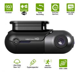 กล้องติดรถยนต์ขนาดเล็กพร้อม Super Capacitor + FULL HD + WiFi + ช็อต 143° - Profio S13
