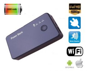 Spy Power Bank 3000mAh + Full HD rejtett WiFi kamera 46f2a01bd8