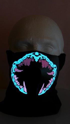 Light up mask Lycan - sensible al sonido