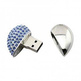 USB bijuterii - inima cu diamante