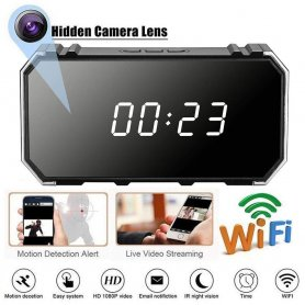 Wi-Fi spy 4K camera hidden in the alarm clock + motion detection + night vision 8 IR