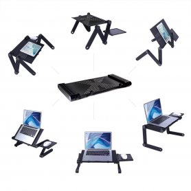Laptop állvány egér platformmal a METAL + BEÁLLÍTHATÓ LÁBBÓL