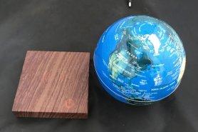 """Vznášajúci sa svietiaci glóbusveľký až 8"""" + podstavec imitácia dreva"""