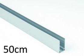 50 cm - Aluminium-Montageleitschiene für LED-Lichtleisten