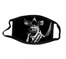 Maschera protettiva 100% poliestere - Teschio fumante