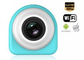 Mini spy wifi kamera FULL HD vodeodolná s 122° uhlom