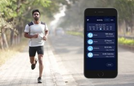 T-Shirt fitness intelligente con navigazione - bluetooth (iOS, Android)