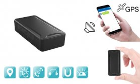 Мини GPS трекер с магнитом - батарея 1000 мАч + удаленный голосовой мониторинг