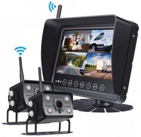 """ชุดกล้องกันน้ำพร้อม AHD สำหรับเรือ/เรือยอชท์/เรือ/เครื่อง/รถยนต์ - จอ LCD 7"""" + กล้อง WiFi 2 ตัว"""