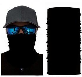 Couvre-chef multifonctionnel (écharpe ou bandana) - NOIR