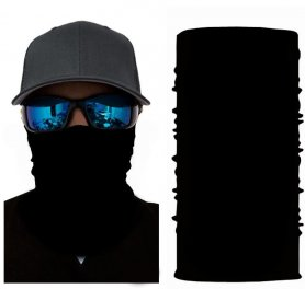 Multifunctional headwear(scarf or bandana)- BLACK