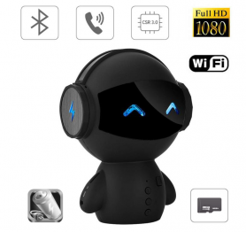 Difuzor bluetooth multifuncțional + Cameră WiFi FULL HD + Mâinăr liber + MP3 player + Powebank