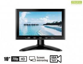"""10 """"огледален монитор за смартфон WiFi + VGA + HDMI и AV вход за 2 камери"""