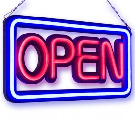 "LED sign ""OPEN"" inscription - 50 cm x 25 cm"