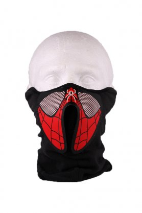 Huboptic LED Mask Spiderman - sensibile al suono