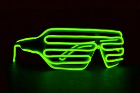 Neon wafel okulary - Green