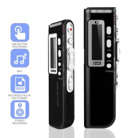 Registratore audio Dictaphone MP3 con funzione VOR per 2 batterie AAA + 16 GB di memoria