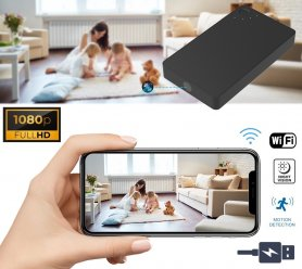 Camera spion Power Bank ascunsă în baterie de 2800mAh + WiFi + P2P + detectare mișcare