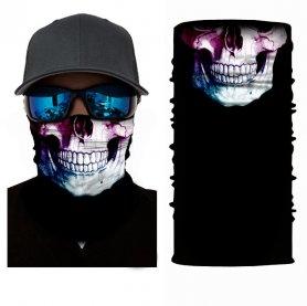 Passamontagna fantasma - Scheletro (copricapo multifunzionale) per il viso
