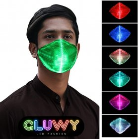 Mască de protecție LED - opțiune pentru comutarea a 7 culori