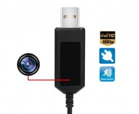 Câble de chargement USB avec caméra FULL HD de haute qualité + mémoire de 8 Go