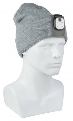 Winter hats - a ribbed hat with LED light