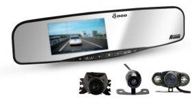 Rearview mirror camera DOD RX300W + parking camera