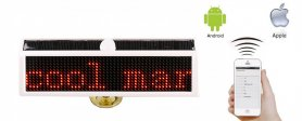 Pantalla LED auto programable solar 16x5cm + Bluetooth