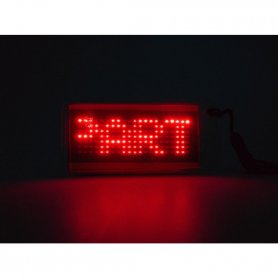 LED necklase red - programmable text on display
