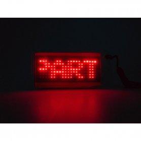 ЛЕД огрлица црвена - програмабилан текст на екрану