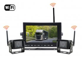"Reversing car camera set - WiFi 7"" LED monitor + 2x Wireless Camera"