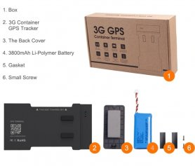 GPS трекер - контейнерный трекер с аккумулятором 3800 мАч + IP66