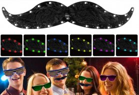 LED light moustache