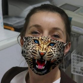 LEOPARD - Animal face masks with 3D printing