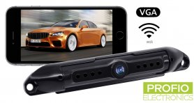 Rear view camera phone wireless mounted on license plate for (iOS, Android)