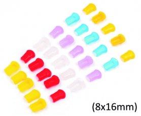 Koncová tesniaca gumička pre silikónové svietiace LED pásy s hrúbkou 8x16mm