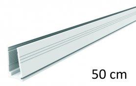 50 cm - Kunststoff-Führungsschiene für leichte LED-Streifen