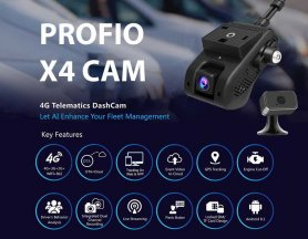 4g live dash cam dual cloud system 4G/WiFi with remote GPS monitoring - PROFIO X4