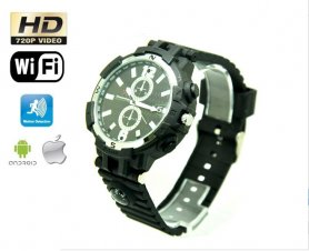 WiFi HD camera in watch with IR LED + 16GB memory