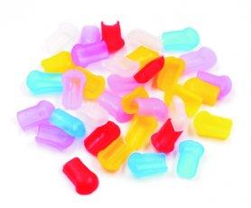 Kolorowa końcówka gumowa uszczelniająca do taśm podświetlanych LED o grubości 8x16mm