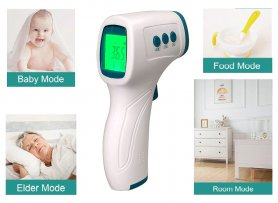 Forehead thermometer contactless + infrared with memory for 32 measurement