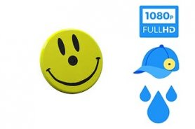 Smile - Magnetic badge with FULL HD waterproof camera
