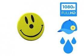 Smile - Magnetický odznak s FULL HD kamerou + vodeodolnosť