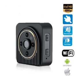 Mini HD Camera with IR Night Vision and a viewing angle up to 150° + WiFi