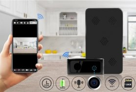 Black-Box-Kamera FULL HD + 5000 mAh Akku + IR-LED + WiFi + P2P + Bewegungserkennung