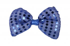 LED bow tie for men - blue