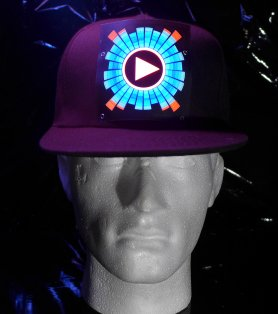 LED cap DJ - sound sensitive