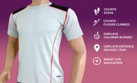 Inteligentní fitness tričko s navigací - bluetooth (iOS, Android)