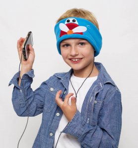 Boy's Stirnband mit Kopfhörern - Flugzeug