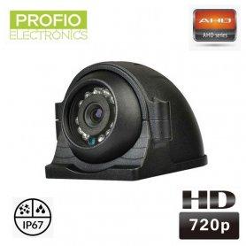 กล้องถอยหลัง AHD 720P พร้อมการมองเห็นได้ในเวลากลางคืน 12xIR LED + มุมมองภาพ 140°